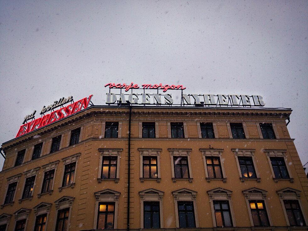 Spektra Neon AB Skyltklassiker Expressen och Dagens Nyheter