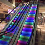 Rulltappa med belysning, RGB LED-belysning, Bålsta Centrum