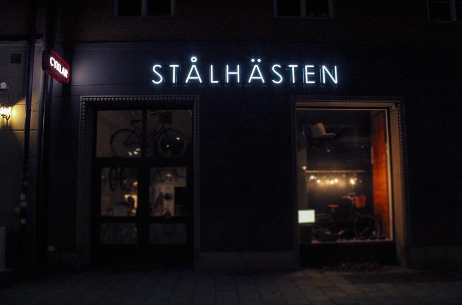Spektra Neon AB Stålhästen Retroskylt Neonskylt