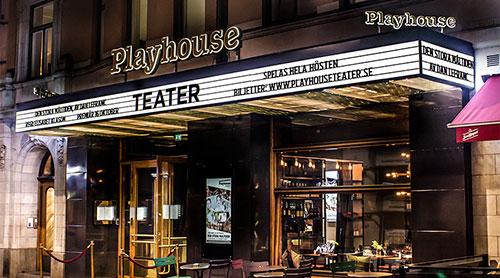 Skyltar & service - Nytillverkning - Ljusskylt Playhouse