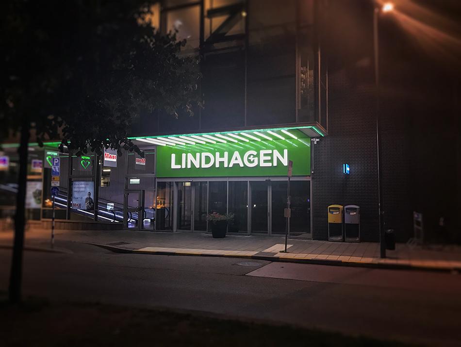 Spektra Neon AB Lindhagen perforerade bakgrundsplåtar