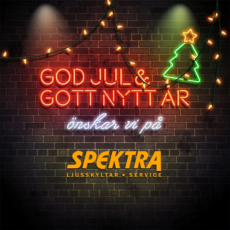 God Jul från Spektra Neon